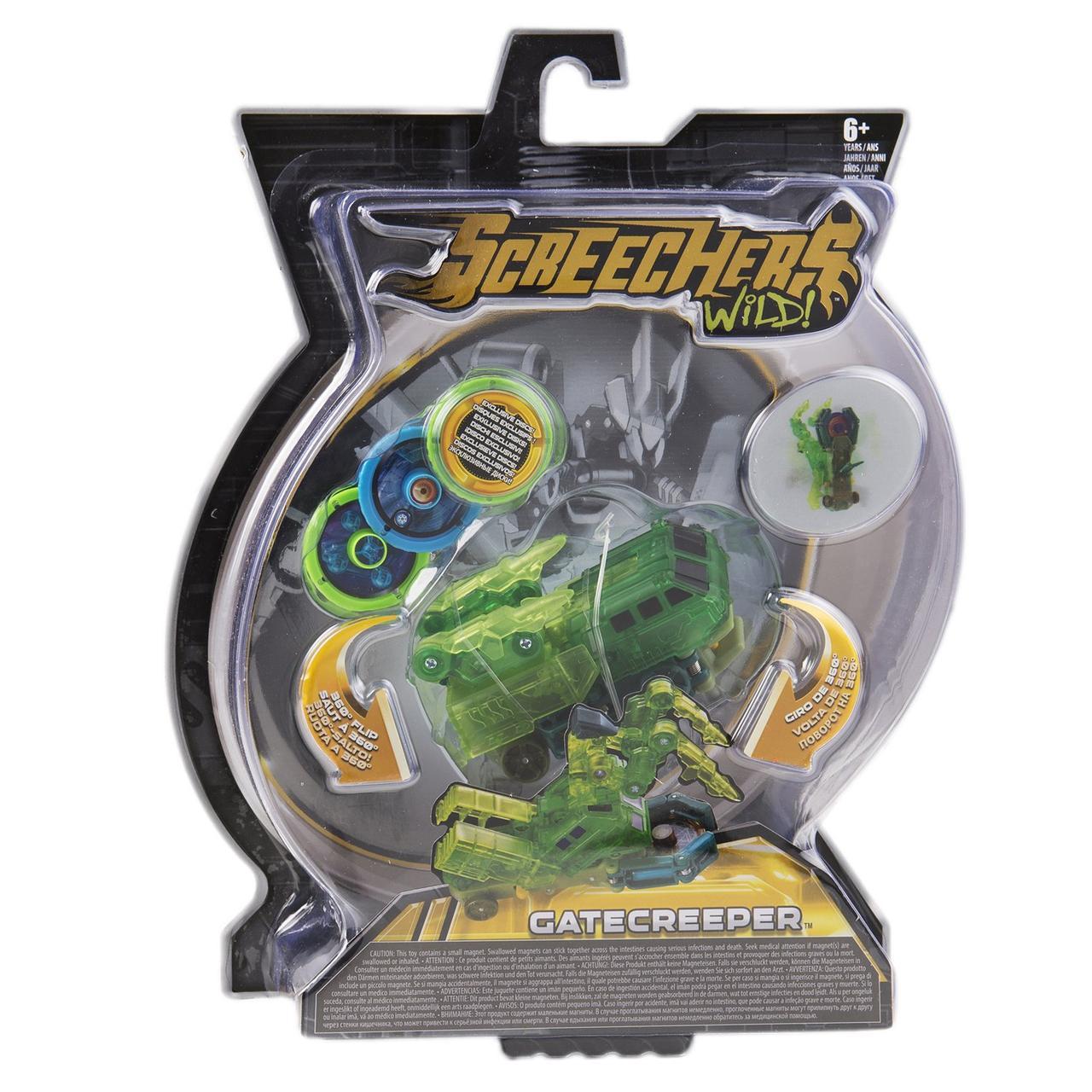 Машинка-Транформер Screechers Wild Дикие Скричеры Гейткрипер л2 - фото 2