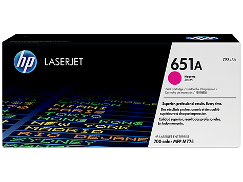 HP CE343A Картридж лазерный HP 651A пурпурный, ресурс 16000 стр.