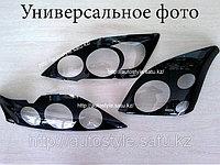 Защита фар Nissan Qashqai 2007-2013 (очки в черн.рамку) AirPlex