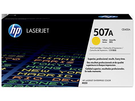 HP CE402A Картридж лазерный HP 507A желтый, ресурс 6000 стр