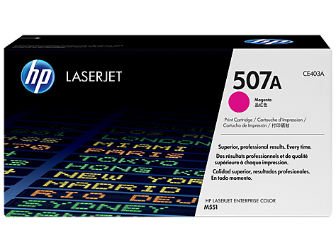 HP CE403A Картридж лазерный HP 507A пурпурный, ресурс 6000 стр.