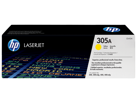 HP CE412A Картридж лазерный HP 305A желтый, ресурс 2600 стр