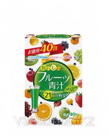 """Фруктовый Аодзиру с молочнокислыми бактериями и ферментами """"Fruit Aojiru"""" Yuwa, 3 гр х 40 шт"""