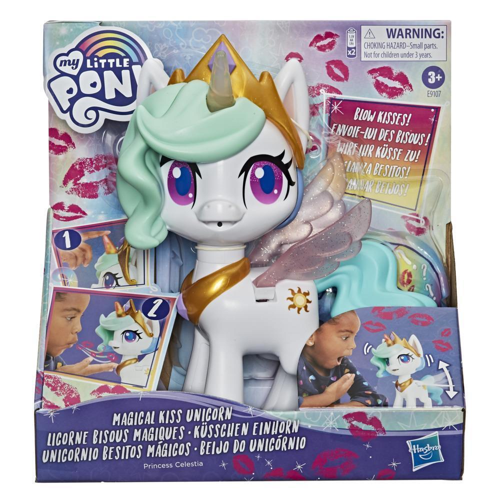 Hasbro My Little Pony Интерактивная пони Принцесса Силестия, Волшебный поцелуй (звук, движение) - фото 1