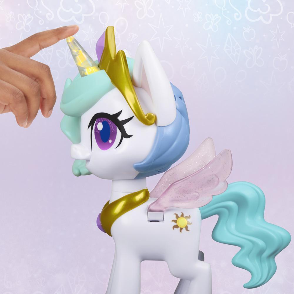 Hasbro My Little Pony Интерактивная пони Принцесса Силестия, Волшебный поцелуй (звук, движение) - фото 3