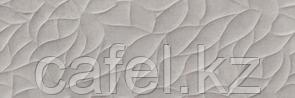 Кафель   Плитка настенная 25х75 Хайку   Haiku серый рельеф