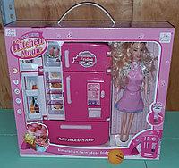 Холодильник с аксессуарами для куклы., фото 1