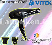 Фен для волос с 2 режимами скорости 2 режима температуры 2 насадки VItek VT-3244