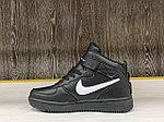 Кроссовки зимние Nike Air Force 1 Utility Mid Black (+Мех), фото 2