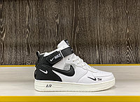Кроссовки зимние Nike Air Force 1 Utility Mid White (+Мех)