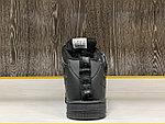 Кроссовки зимние Nike Air Force 1 Utility Mid All Black (+Мех), фото 3