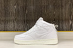 Кроссовки зимние Nike Air Force 1 Utility Mid All White (+Мех), фото 3