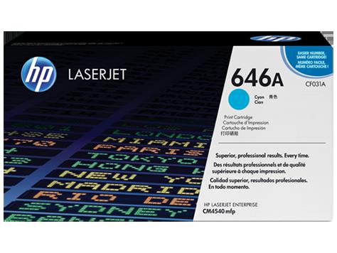 HP CF031A Картридж лазерный HP 646A голубой, ресурс 12500 стр