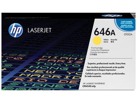 HP CF032A Картридж лазерный HP 646A желтый, ресурс 12500 стр.