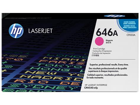 HP CF033A Картридж лазерный HP 646A пурпурный, ресурс 12500 стр