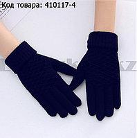 Перчатки для рук зимние сенсорные из овечьей шерсти фиолетового цвета