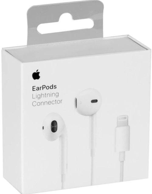 Проводные наушники с микрофоном Apple EarPods с коннектором Lightning
