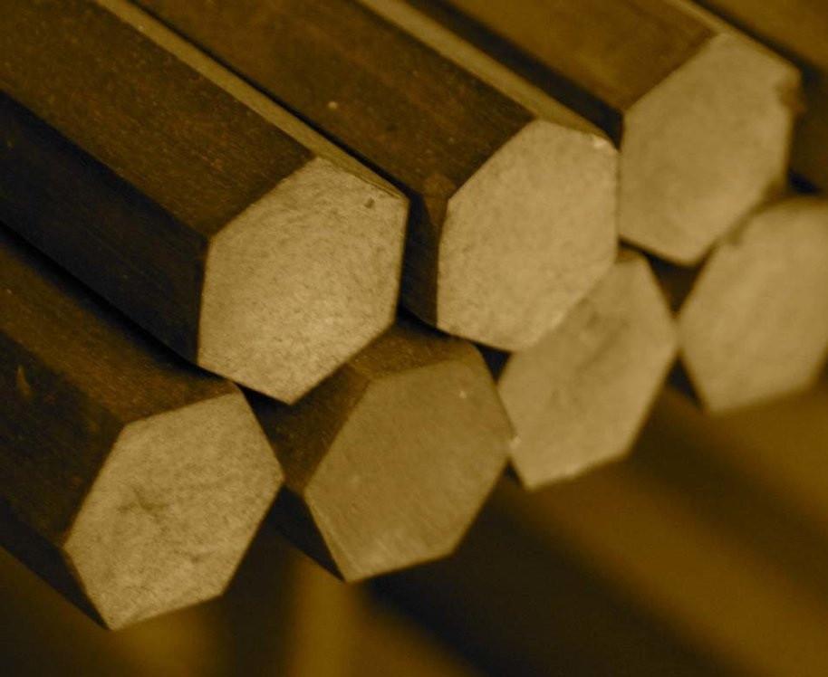 Шестигранник (пруток) латунный D=11 мм. ЛС59-1 Л63