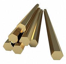 Шестигранник (пруток) латунный D25 мм. ЛС59-1 Л63
