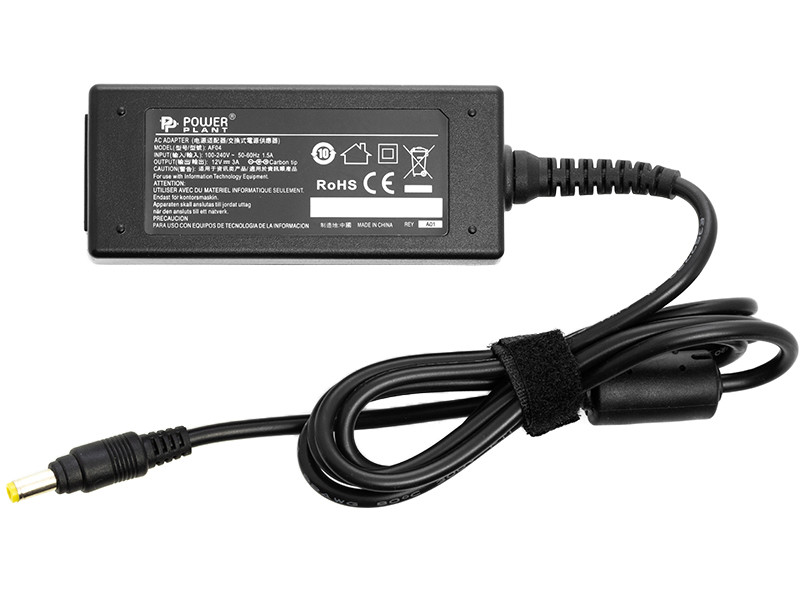 Блок питания для ноутбуков PowerPlant ASUS 220V, 12V 36W 3A (4.8*1.7)