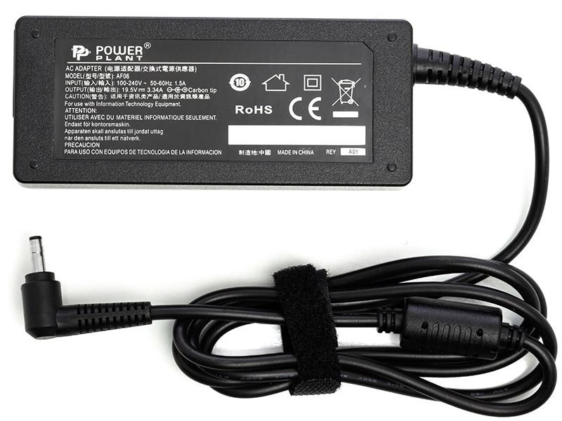 Блок питания для ноутбуков PowerPlant DELL 220V, 19.5V 65W 3.34A (4.0*1.7)