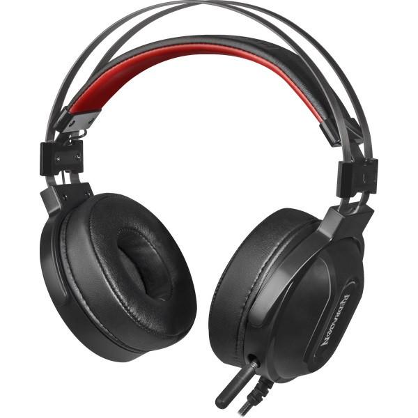 Наушники-гарнитура игровые Redragon Ladon красный + черный