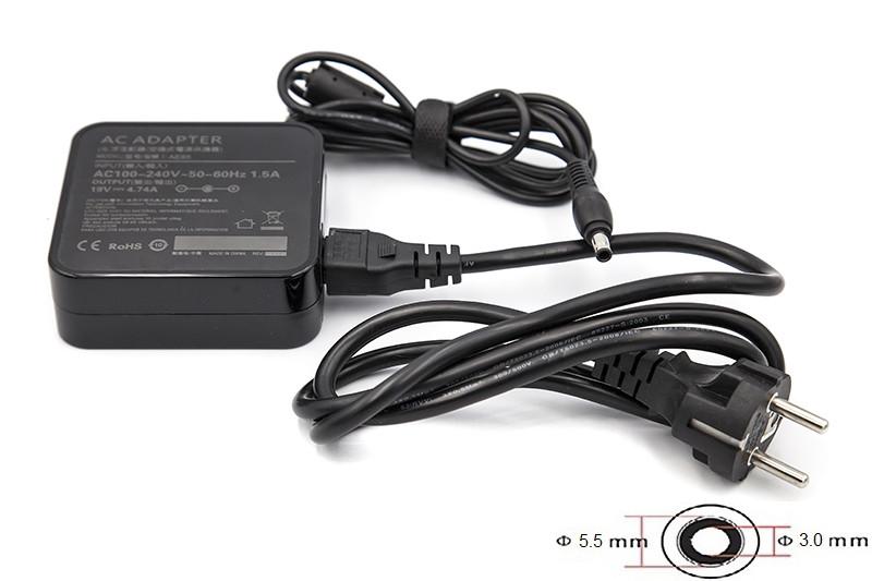 Блок питания для ноутбуков PowerPlant SAMSUNG 220V, 19V 90W 4.74A (5.5*3.0) wall mount
