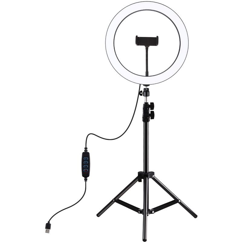 "Кольцевая USB LED лампа Puluz PKT3056B 11.8"" + штатив 1.1 м"