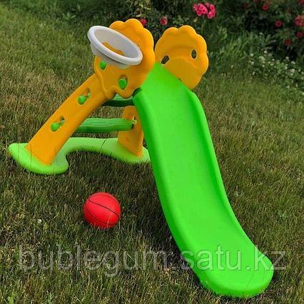 Горка пластиковая малая зеленая