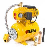 Насосная станция эжекторная PSD800C, 800 Вт, 2400 л/ч, ресивер 24 л, всасывание 20 м Denzel