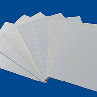 Белый, жесткий листовой PVC пластик (1 мм) (1,22м х2,44м)