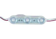 Трехточечные светодиоды с линзой и алюминиевым теплоотводом (IP67) 1,51W, цвет - белый