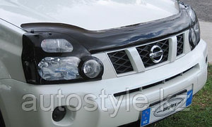 Защита фар Nissan X-tral 2008-10/11-13 (очки кант черный) AirPlex