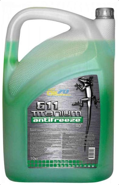Антифриз Titanium G11-40 зеленый 10 кг