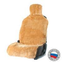 Накидка на сиденье, натуральная шерсть, коричневая