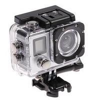 Экшн-камера Luazon RS-01, 4К, Wi-fi, пульт, чехол для подводной съемки, серебристая