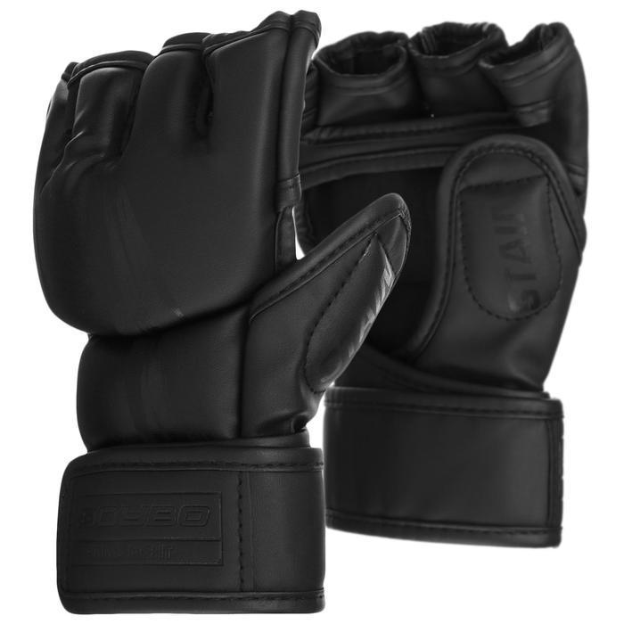 Перчатки для ММА BoyBo Stain, флекс, цвет чёрный, размер XS
