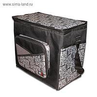 Сумка-холодильник COOLER BAG, Черно-Сер YF-1266