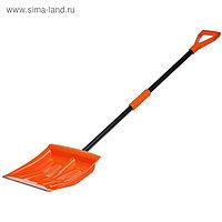 Лопата пластиковая, ковш 390 × 400 мм, с металлической планкой, черенок, с ручкой, Airline AB-S-05