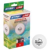 Мяч для настольного тенниса Start line Club Select, 1 звезда, набор 6 шт., цвет белый (комплект из 2 шт.)