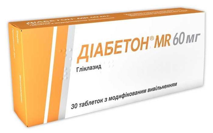 Диабетон МР 60мг № 30