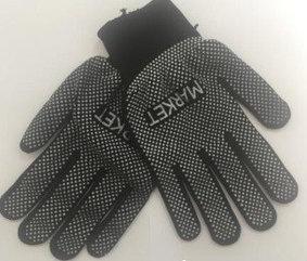 Перчатки с микроточками , черные Маркет
