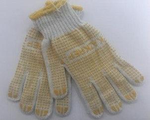 Перчатки х/б с пвх 10 класс,желтые Казкреп