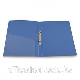Папка на двух кольцах D-16мм, А4, ширина 25 мм, голубой