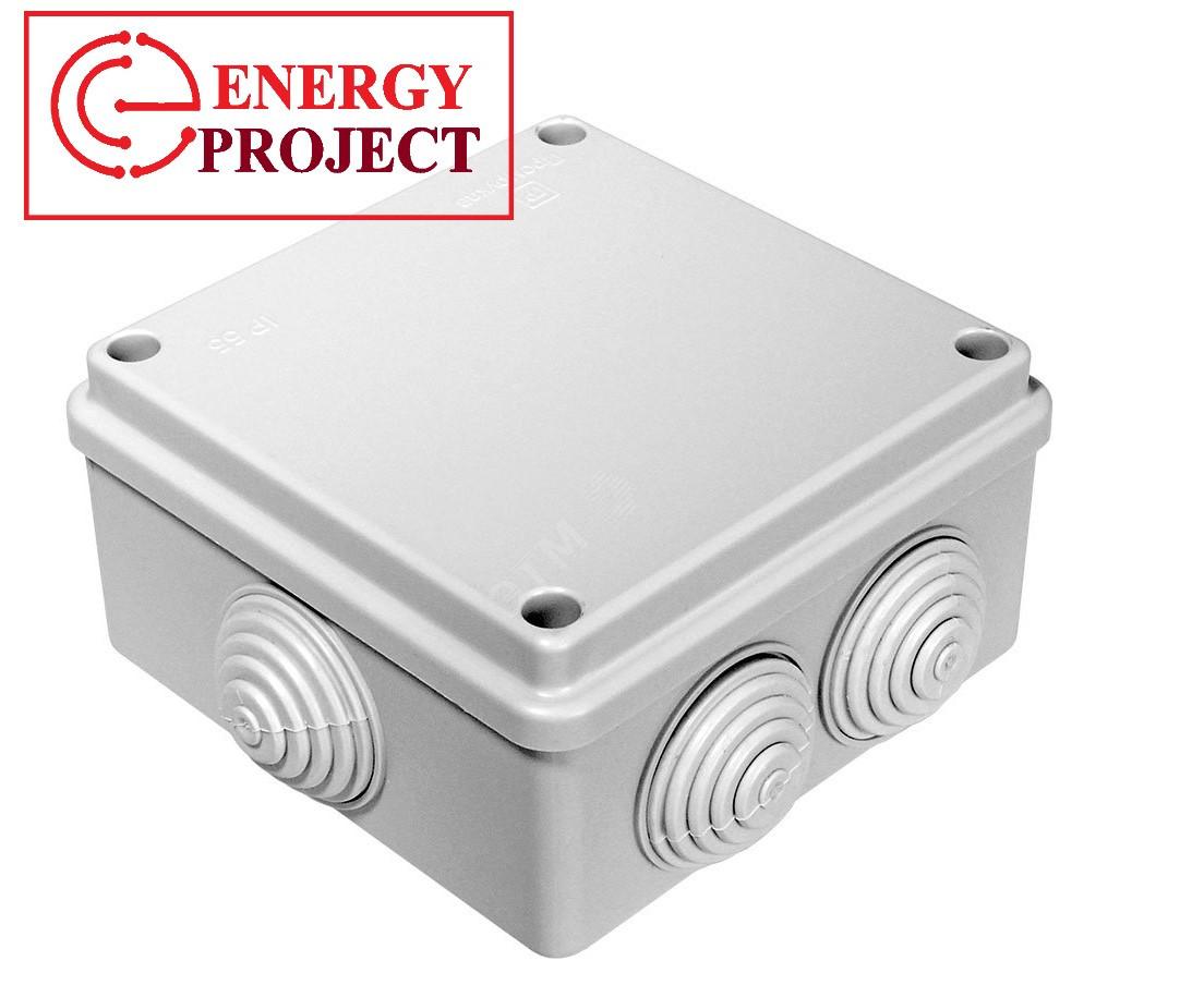 Коробка распаячная пылевлагозащитная с гермовводом 100*100/50.2.3.