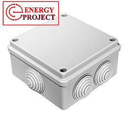 Коробка распаячная пылевлагозащитная с гермовводами УПр 80*80/50.2.3.
