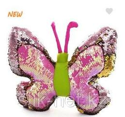 Бабочка антистресс с паетками 30см