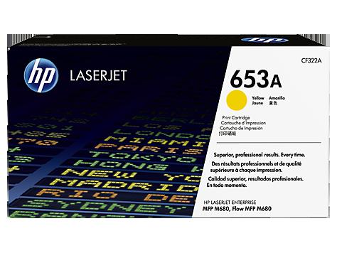 HP CF322A Картридж лазерный HP 653A желтый, ресурс 16500 стр