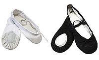Балетки для танцев белые и черные с 24 по 38р