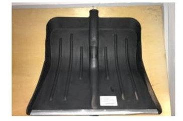 Лопата снеговая пластиковая (№5с оцинкованной планкой 430*490мм)